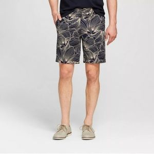 New Men's Breathable Blue Flat Front Chino Shorts